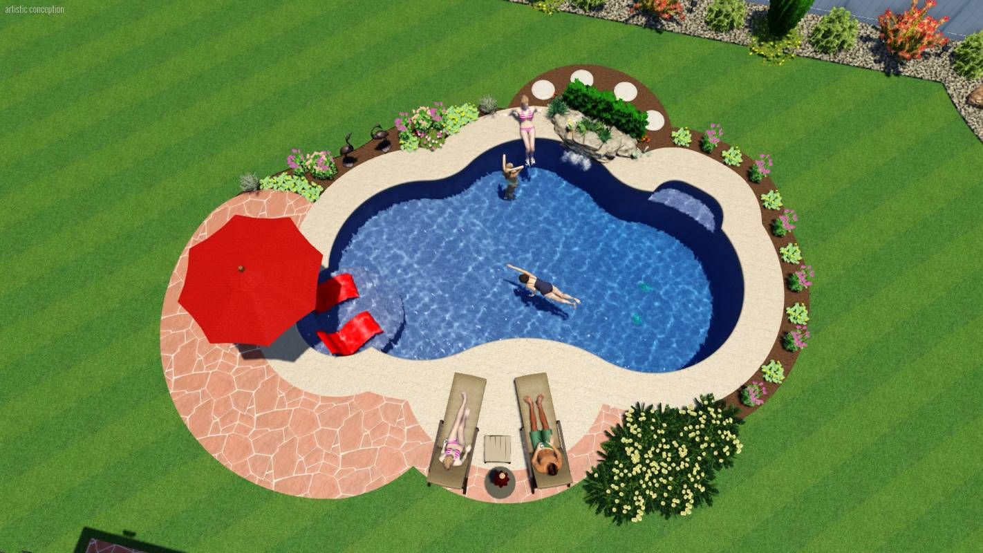 Mountain Pond Pool Shape | Pool Town NJ