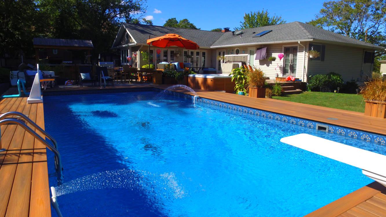 Pool Town Modern Rectangle