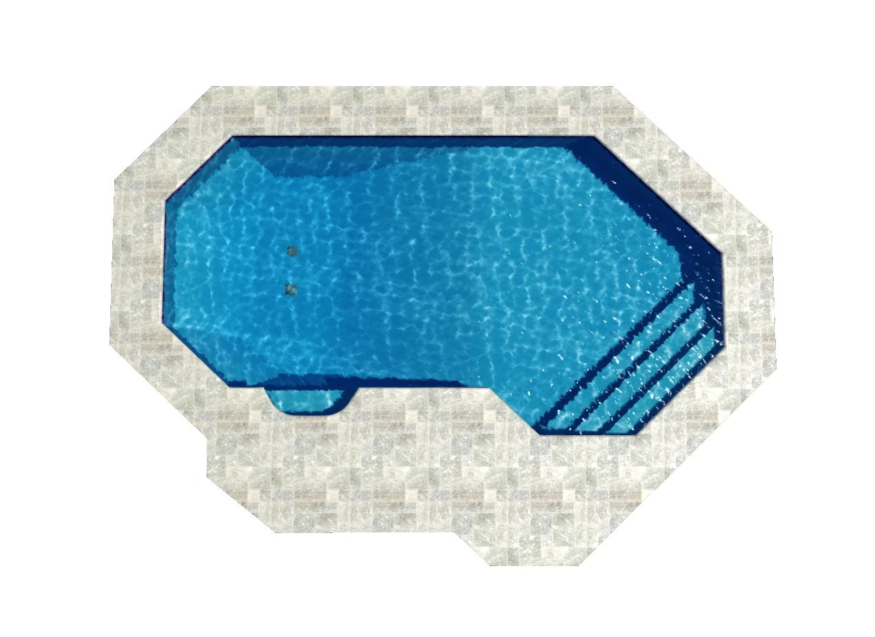 Grecian Lazy Ell Pool Shape